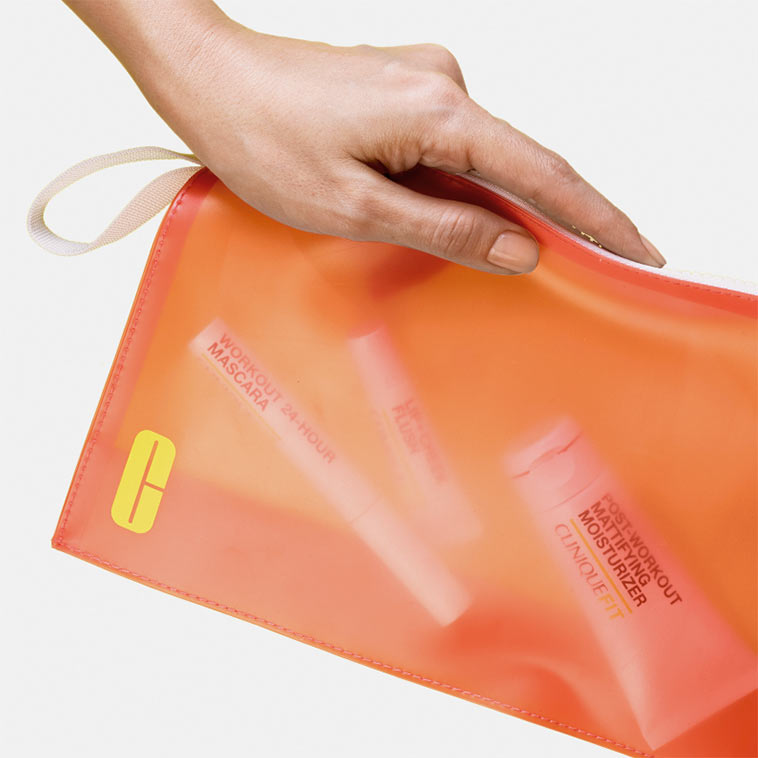 Photo Of The Free Gift With Purchse It S An Orange See Through Travel Bag