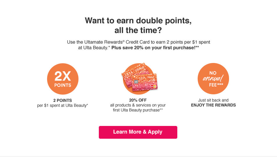 Spend More Use The Ultamate Rewards Credit Card To Earn 2 Points Per 1 Spent