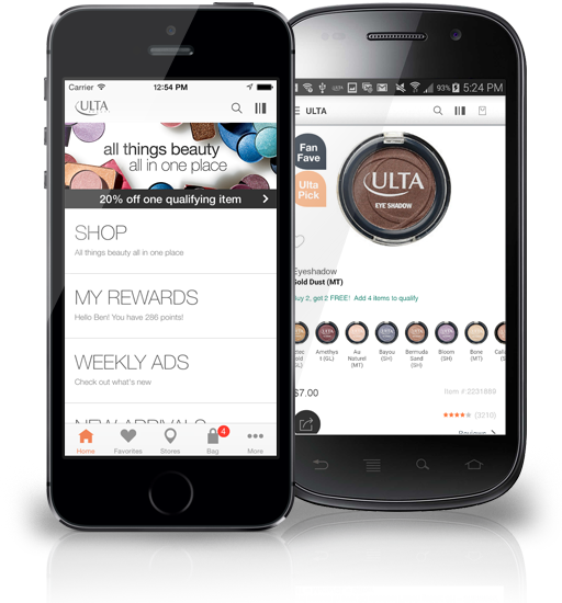 Here you can find the links to the latest version of Ulta Beauty app. Users with Android-powered mobile phones or tablets can get and install it from Play Market.