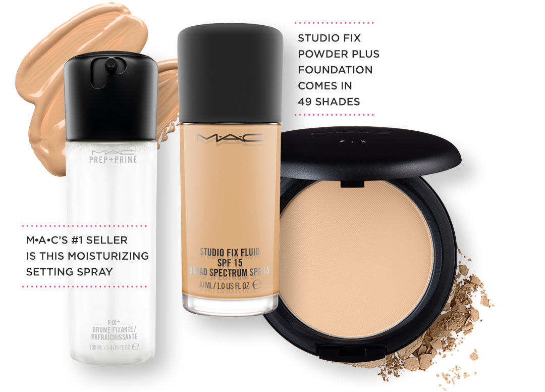 Ulta Loves Mac Cosmetics Beauty Studio Fix Powder Plus Foundation Fluid And Light Are Smeared Crumbled Next To The Moisturizing