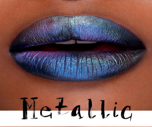 Metalic lips ...